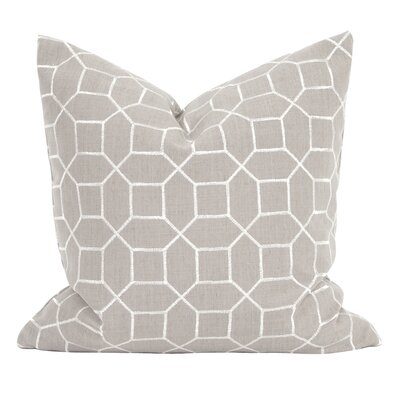 Drumrankin Trellis Throw Pillow Color: Slate, Size: 20 x 20