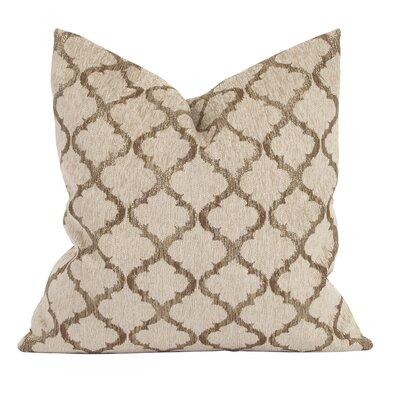 Rania Throw Pillow Color: Gold, Size: 24 x 24