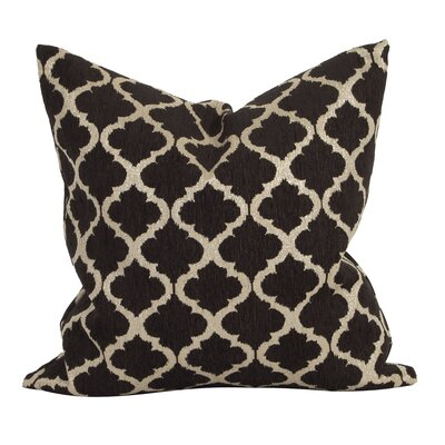 Rania Throw Pillow Color: Onyx, Size: 20 x 20