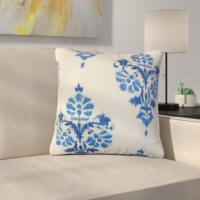 Bedwell Summerfield Ikat Cotton Throw Pillow Color: Blue
