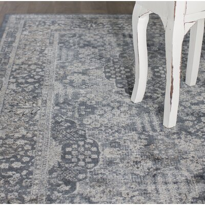 Hummell Blue Area Rug Rug Size: Rectangle 710 x 103