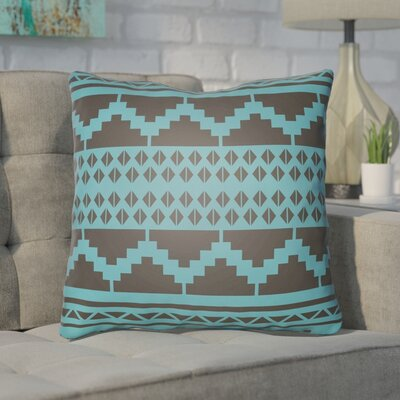Adamson Geometric Throw Pillow Size: 20 H x 20 W x 3.5 D, Color: Aqua