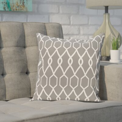 Bronstein Geometric Print Throw Pillow Size: 26 H x 26 W x 1 D, Color: Classic Gray