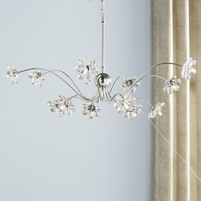Alexa 12-Light Crystal Chandelier Crystal Grade: European, Crystal Color: Clear