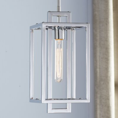 Tianna 1-Light Mini Pendant Finish: Chrome, Size: 12.64 H x 7 W x 7 D