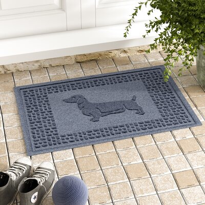 Conway Dachshund Doormat Color: Bluestone