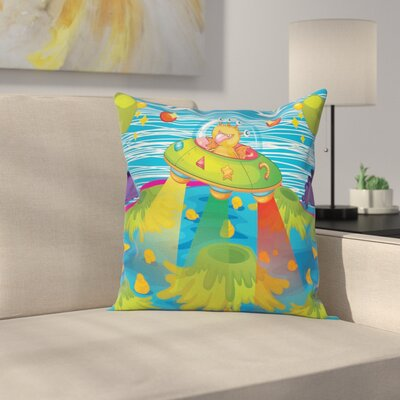 Alien For Kids Square Pillow Cover Size: 16 x 16