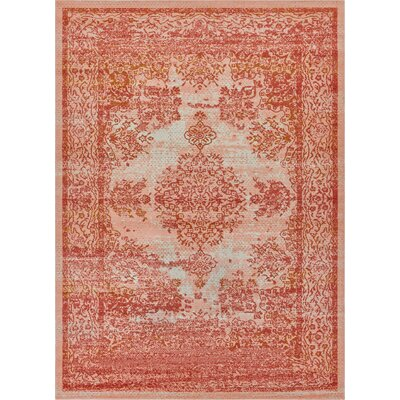 Cortright Orange Area Rug Rug Size: Rectangle 53 x 73