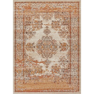 Cortright Beige Area Rug Rug Size: Rectangle 53 x 73