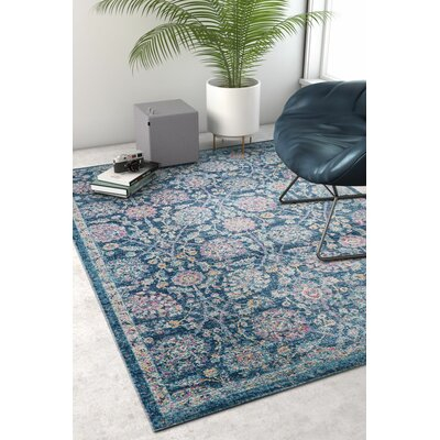Cortright Blue/Pink Area Rug Rug Size: Rectangle 53 x 73
