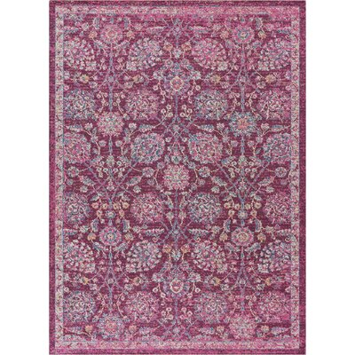 Cortright Pink Area Rug Rug Size: Rectangle 53 x 73