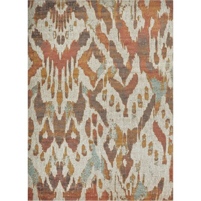 Cortright Beige/Brown Area Rug Rug Size: Rectangle 53 x 73