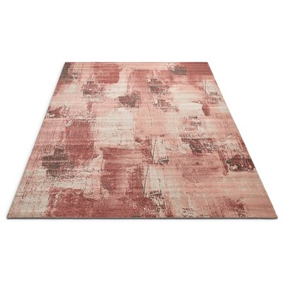 Costello Red/Beige Area Rug Rug Size: Rectangle 2 x 3