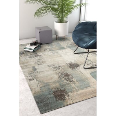 Costello Blue/Beige Area Rug Rug Size: Rectangle 53 x 73