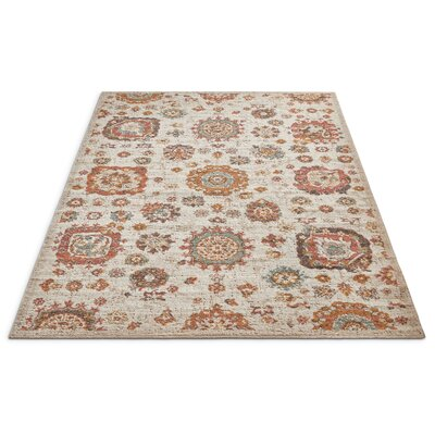 Cortright Beige/Brown Area Rug Rug Size: Rectangle 2 x 3