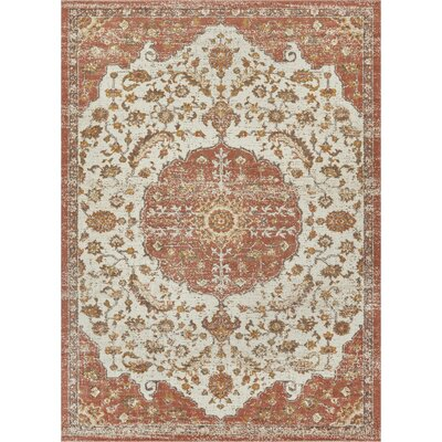Cortright Brown/Beige Area Rug Rug Size: Rectangle 7'10