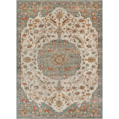 Hauge Blue/Beige Area Rug Rug Size: Rectangle 53 x 73