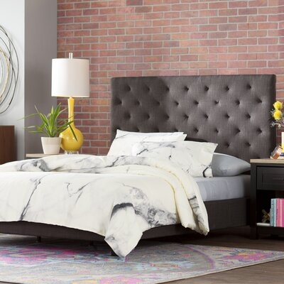 Inniss Upholstered Panel Bed Size: Queen, Color: Dark Gray
