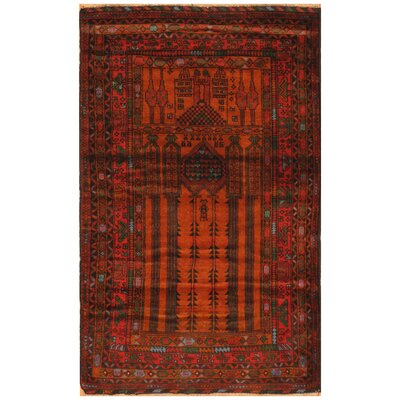 One-of-a-Kind Ebron Hand-Knotted Wool Rust/Navy Area Rug