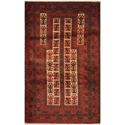 One-of-a-Kind Ebron Hand-Knotted Wool Beige/Navy Area Rug