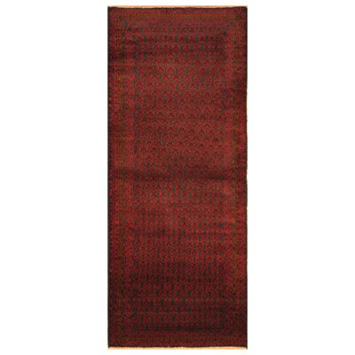 One-of-a-Kind Ebron Hand-Knotted Wool Navy/Brown Area Rug