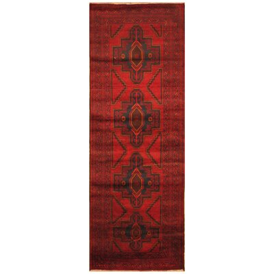 One-of-a-Kind Ebron Hand-Knotted Wool Red/Brown Area Rug Rug Size: Rectangle 22 x 63