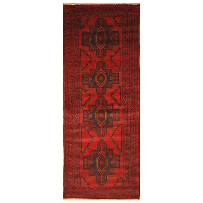 One-of-a-Kind Ebron Hand-Knotted Wool Red/Brown Area Rug Rug Size: Rectangle 29 x 64