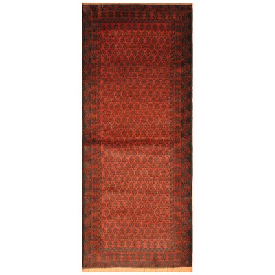 One-of-a-Kind Ebron Hand-Knotted Wool Salmon/Navy Area Rug