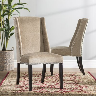 Chicago Parsons Chair Upholstery: Light Brown Chenille