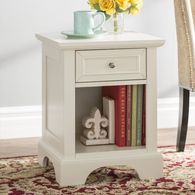 Cusick 1 Drawer Nightstand Color: White