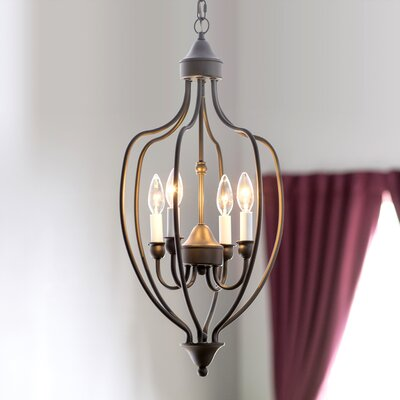 Williams 4-Light Foyer Pendant Finish: Bronze