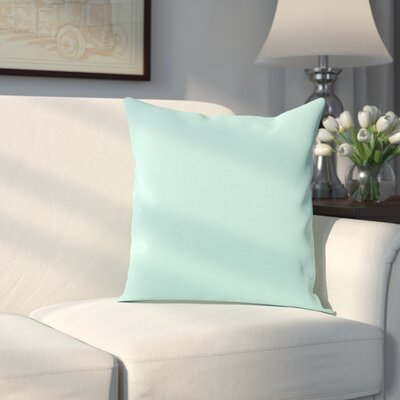 Georgia Outdoor Throw Pillow Color: Aqua, Size: 20 H x 20 W x 1 D