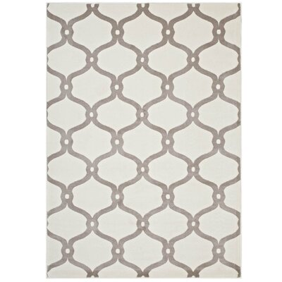 Dilorenzo Chain Link Transitional Trellis Beige/Ivory Area Rug Rug Size: 5 x 8