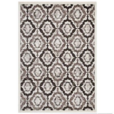 Nolasco Rustic Vintage Moroccan Trellis Brown/Beige/Ivory Area Rug Rug Size: 8 x 10