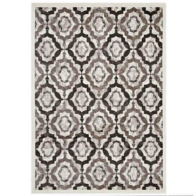 Nolasco Rustic Vintage Moroccan Trellis Brown/Beige/Ivory Area Rug Rug Size: 5 x 8