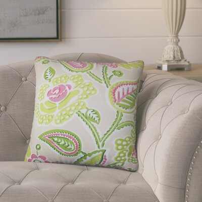Pontus Floral Cotton Throw Pillow