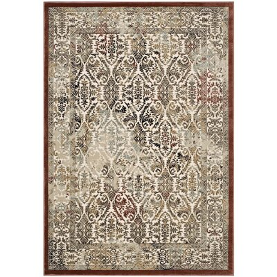 Broman Ornate Turkish Vintage Tan/Walnut/Brown Area Rug Rug Size: 8 x 10