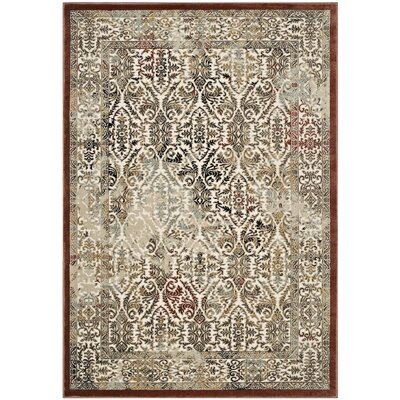 Broman Ornate Turkish Vintage Tan/Walnut/Brown Area Rug Rug Size: 5 x 8