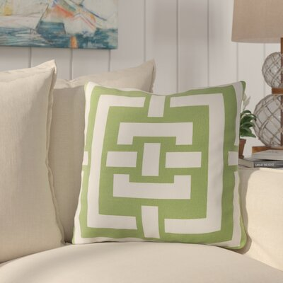 Busti Cotton Throw Pillow Color: Green, Filler: Down