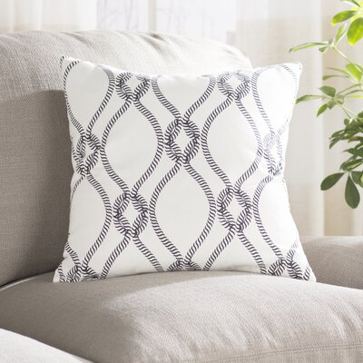 Cece 100% Cotton Pillow Cover Size: 18 H x 18 W, Color: Dark Blue