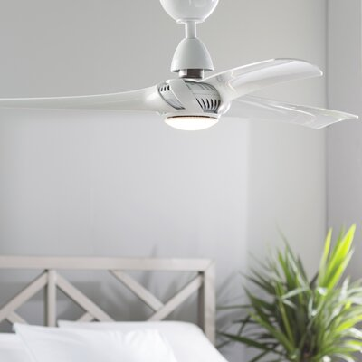 52 Lilith 3 Blade LED Ceiling Fan with Remote Finish: White
