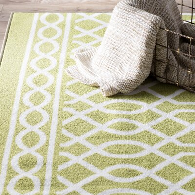 Chaunce Twisted Rope Green Area Rug Rug Size: Rectangle 76 x 10