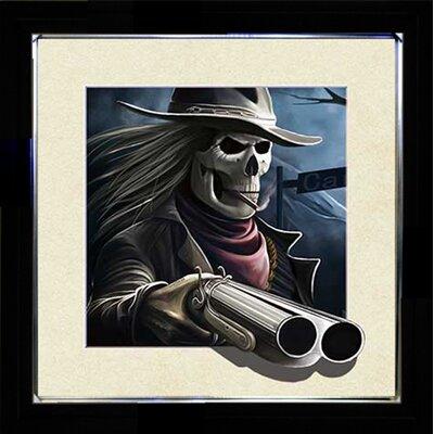 Lenticular 'Gun Skull' Framed Graphic Art Print 3D:5D470