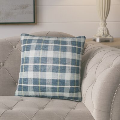 Parmley Plaid Throw Pillow Color: Marine