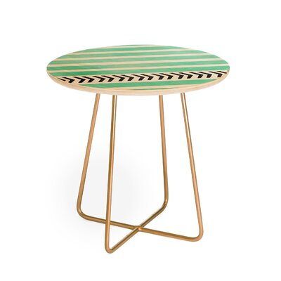 Allyson Johnson Mint Stripes And Arrows End Table