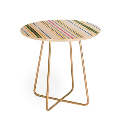 Rachelle Roberts Ticker Stripe End Table