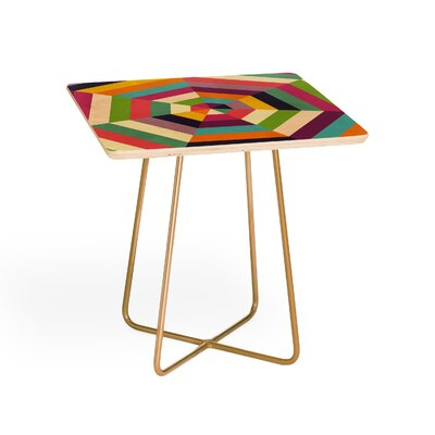 Fimbis Heptagon Quilt End Table