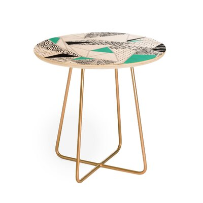Marta Barragan Camarasa Abstract Geometric End Table