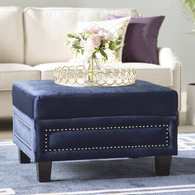 Dia Storage Ottoman Upholstery Color: Navy