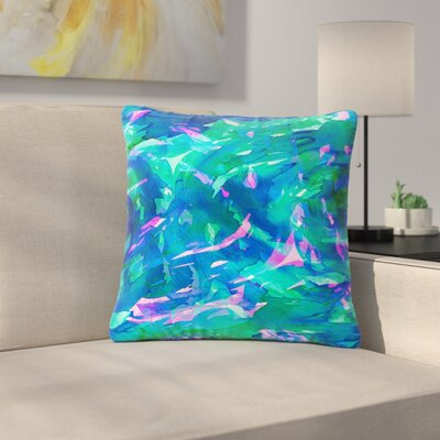 Ebi Emporium Motley Flow Outdoor Throw Pillow Size: 18 H x 18 W x 5 D, Color: Blue/Teal